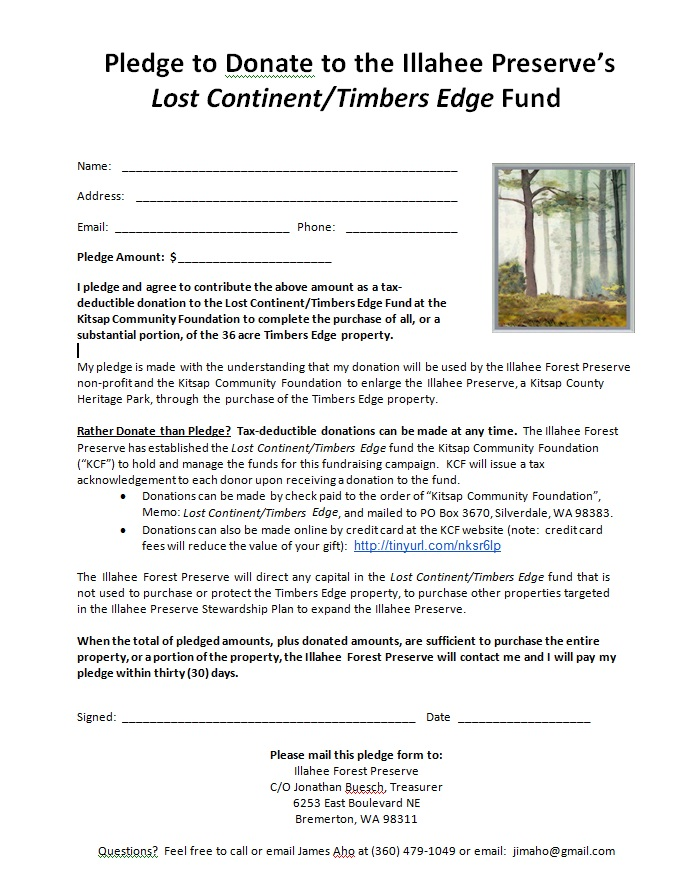Pledge Form Pledge Form Friends Of The Rouge Watershed Schools And